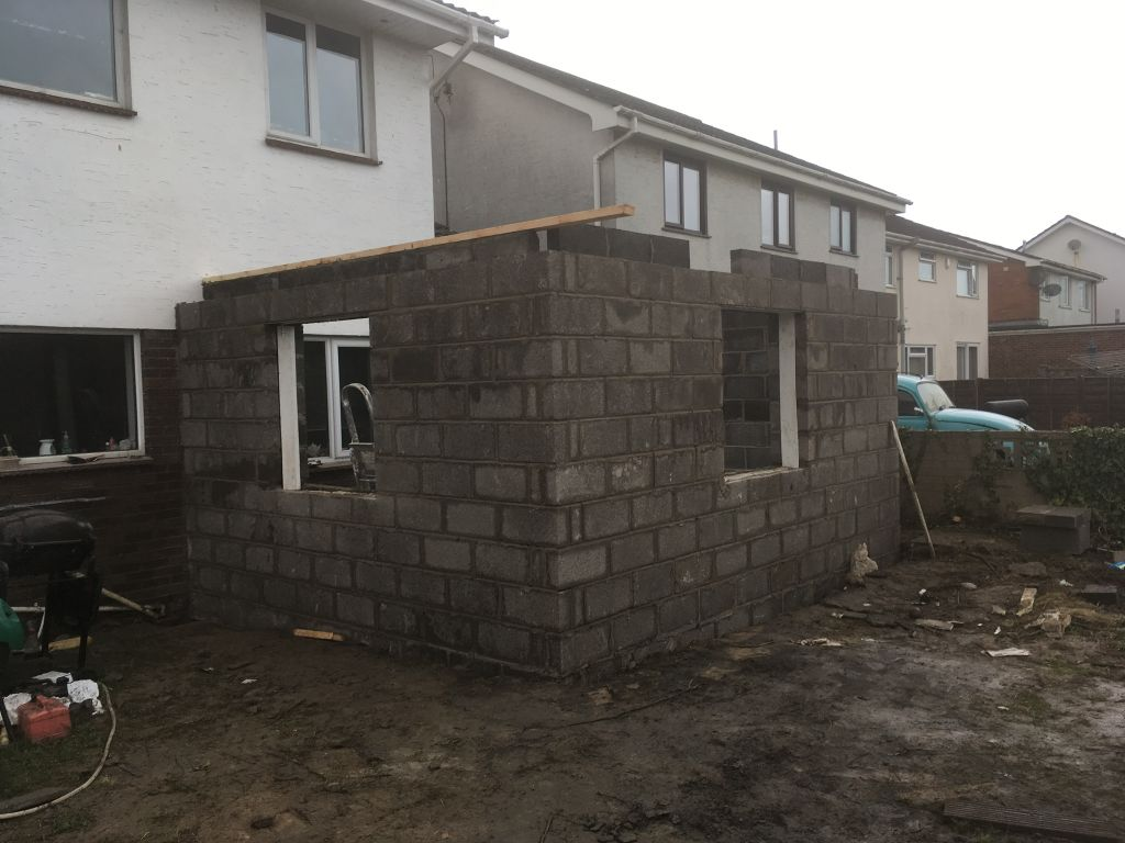Single story extension in caldigot with alpine finished rendering-3